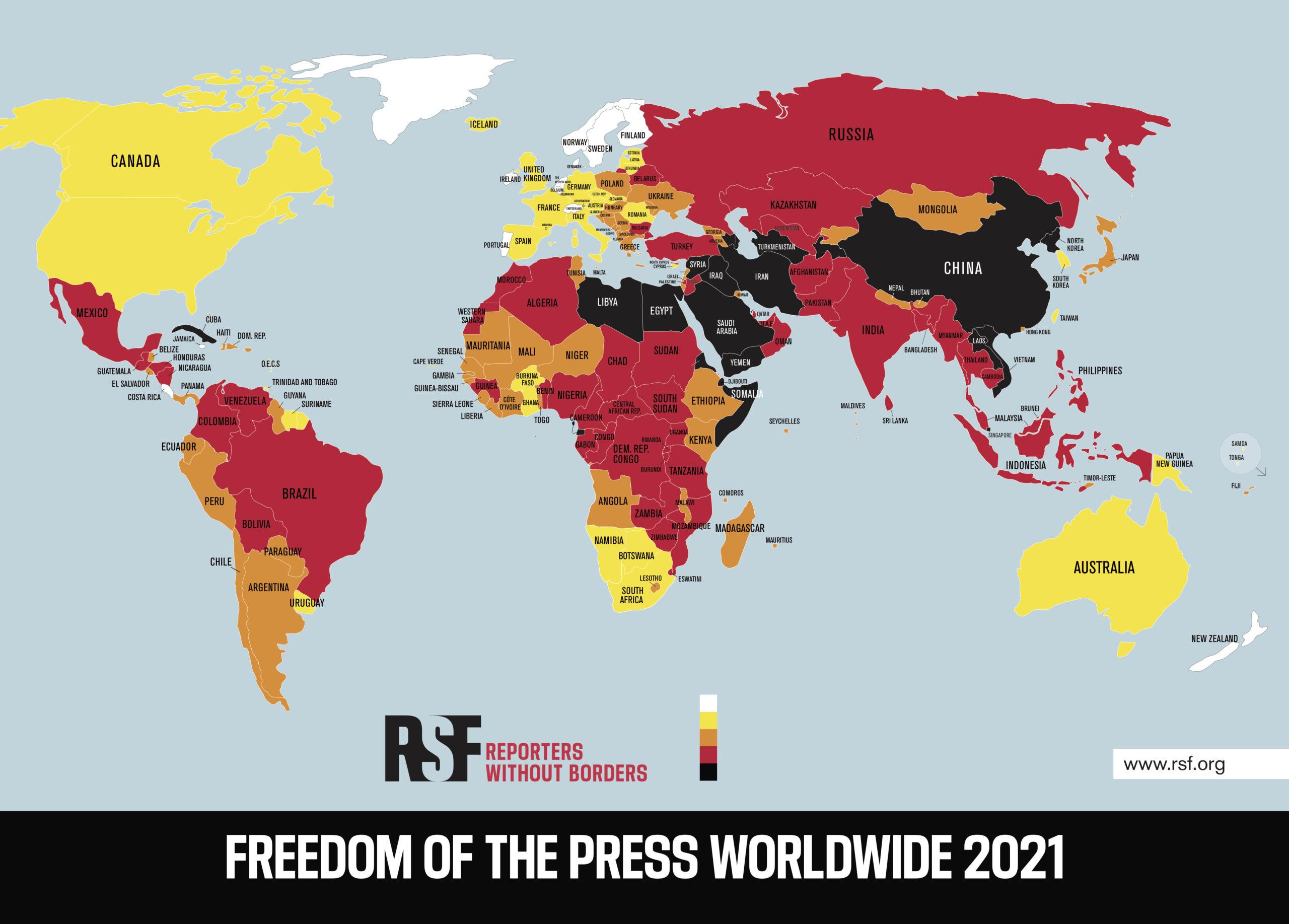 «Лучше, но могло быть еще лучше». Кыргызстан поднялся на 3 строчки в рейтинге свободы прессы, но журналисты все еще подвергаются преследованиям — «Репортеры без границ»
