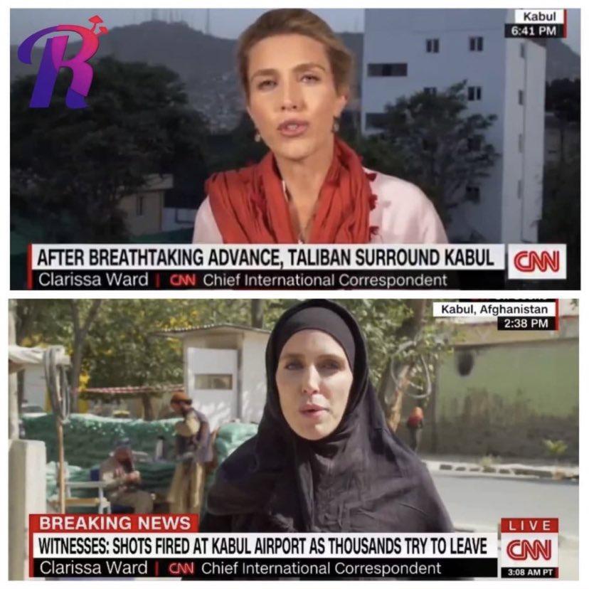 Распространяемое фото журналистки CNN, надевшей хиджаб с приходом талибов, — манипуляция